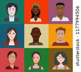 a set of people | Shutterstock .eps vector #1177994506