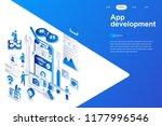 app development modern flat... | Shutterstock .eps vector #1177996546