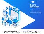 online education modern flat... | Shutterstock .eps vector #1177996573