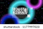 glitch poster background.... | Shutterstock .eps vector #1177997023
