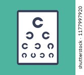 optician eye test chart icon...