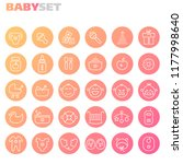 inline baby icons collection | Shutterstock .eps vector #1177998640