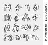 career development icons  | Shutterstock .eps vector #1178000059