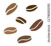 coffe beans background  vector... | Shutterstock .eps vector #1178000350