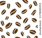 coffe beans background  vector... | Shutterstock .eps vector #1178000353