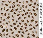 coffe beans background  vector... | Shutterstock .eps vector #1178000356