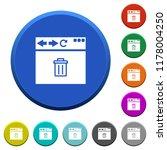 browser delete round color...   Shutterstock .eps vector #1178004250