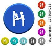 lira cash machine round color...   Shutterstock .eps vector #1178004253