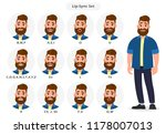set of lip sync collection for... | Shutterstock .eps vector #1178007013
