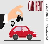 renting a car. hand holds a... | Shutterstock .eps vector #1178008456