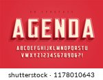 agenda display font design ... | Shutterstock .eps vector #1178010643