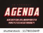agenda display font design ... | Shutterstock .eps vector #1178010649