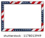 American flag frame border on...