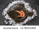 raw whole flounder fish with... | Shutterstock . vector #1178014300