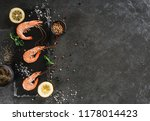 fresh raw prawns or boiled red... | Shutterstock . vector #1178014423