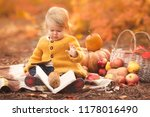 little girl reading her first... | Shutterstock . vector #1178016490