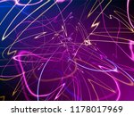 abstract multicolored neon... | Shutterstock .eps vector #1178017969