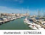 harbor in trani  italy. | Shutterstock . vector #1178022166