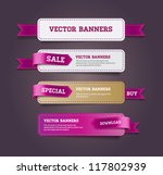 a set of vector promo banners... | Shutterstock .eps vector #117802939