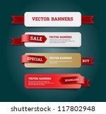 a set of vector promo banners... | Shutterstock .eps vector #117802948