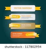 a set of vector promo banners... | Shutterstock .eps vector #117802954