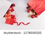 christmas decorations and... | Shutterstock . vector #1178030320