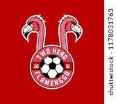 two head flamengo  sports logo   Shutterstock .eps vector #1178031763