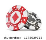 gambling chips diamond and club ... | Shutterstock . vector #1178039116