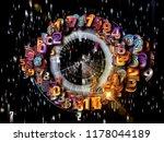 numbers in space series.... | Shutterstock . vector #1178044189