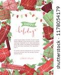 vector happy holidays...   Shutterstock .eps vector #1178054179