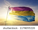 pansexual pride flag textile... | Shutterstock . vector #1178055220