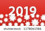 origami snowflakes. 2019 new... | Shutterstock .eps vector #1178061586