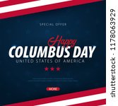 columbus day sale promotion ... | Shutterstock .eps vector #1178063929