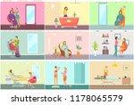spa salon pedicure and barber...   Shutterstock .eps vector #1178065579