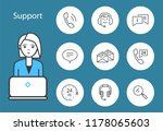 support service woman working... | Shutterstock .eps vector #1178065603