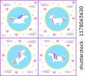 unicorns design of mythological ... | Shutterstock .eps vector #1178065630