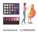 visage makeup of client woman... | Shutterstock .eps vector #1178065660