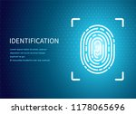 identification fingerprint... | Shutterstock .eps vector #1178065696