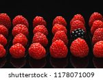 blackberry and raspberry on a... | Shutterstock . vector #1178071009