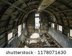plane wreck on a public beach... | Shutterstock . vector #1178071630
