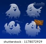 ghost apparition spook horror a ... | Shutterstock .eps vector #1178072929
