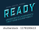 chisel crafted display font... | Shutterstock .eps vector #1178100613