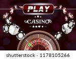 casino background roulette... | Shutterstock .eps vector #1178105266