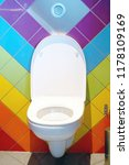 close up of toilet bowl.... | Shutterstock . vector #1178109169