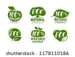 eco label or logo. set of... | Shutterstock .eps vector #1178110186