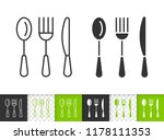 Cutlery Black Linear And...