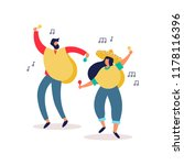 mexican friends dancing... | Shutterstock .eps vector #1178116396