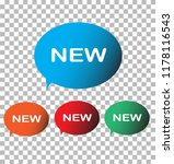 new icon on transparent... | Shutterstock .eps vector #1178116543