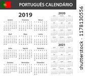 portuguese calendar for 2019 ... | Shutterstock .eps vector #1178130556