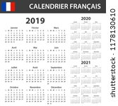 french calendar for 2019  2020... | Shutterstock .eps vector #1178130610